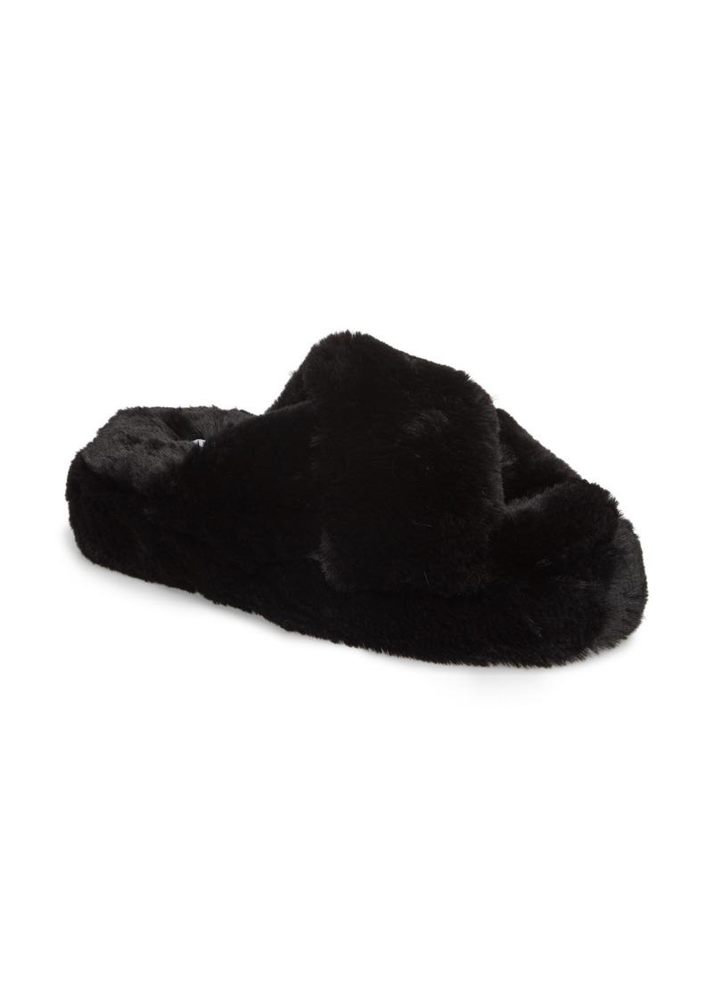 Steve Madden Comfy Faux Fur Slipper (Women)