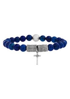 Steve Madden Cross Charm Bead Bracelet