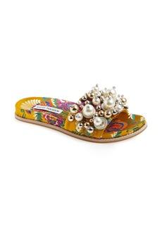 Steve Madden Delicate Embellished Slide Sandal (Women)