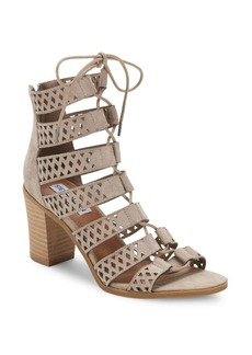 Steve Madden Delphine Perforated Suede Sandals