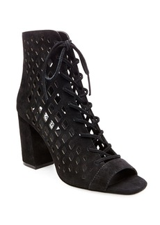 Steve Madden Denay Suede Lace-Up Ankle-Length Booties