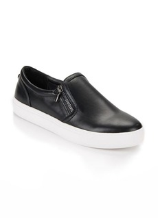 Steve Madden Double Zippered Leather Sneakers