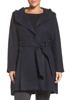 Steve Madden Drama Hooded Coat (Plus Size)