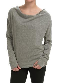 Steve Madden Draped-Neck Keyhole Sweatshirt (For Women)