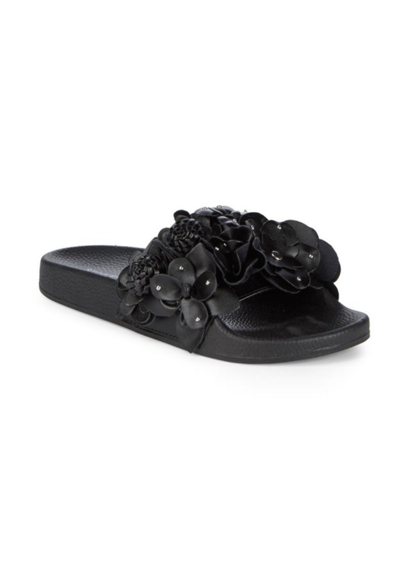 steve madden duffey floral slides shoes