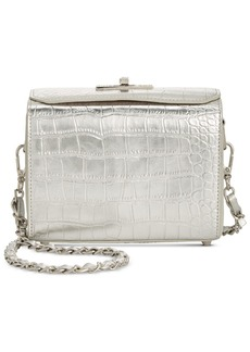 Steve Madden Eliza Croco Top Lock Crossbody