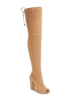 Steve Madden Elliana Over the Knee Open Toe Boot (Women)