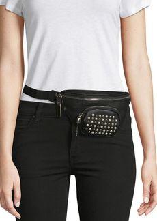 Steve Madden Embellished Leather Belt Bag