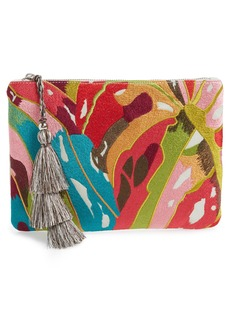 Steve Madden Embroidered Clutch
