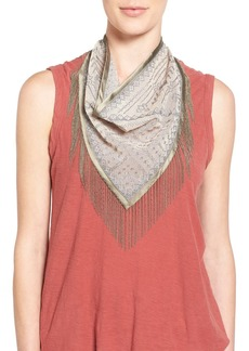 Steve Madden Embroidered Fringe Neckerchief