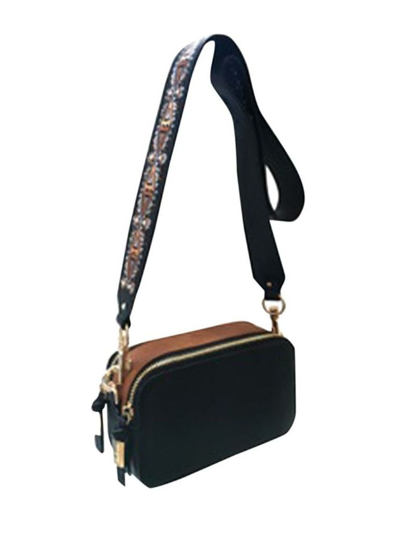 Embroidered Strap Camera Bag Steve Madden