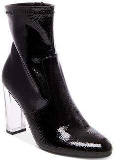 Steve Madden Eminent Lucite Block-Heel Booties