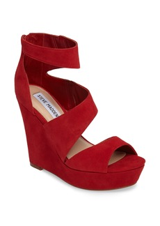 Steve Madden Essey Asymmetrical Platform Wedge Sandal (Women)
