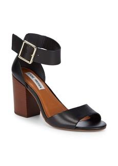 Estoriaa Leather Block-Heels