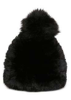 Steve Madden Faux-Fur Beanie