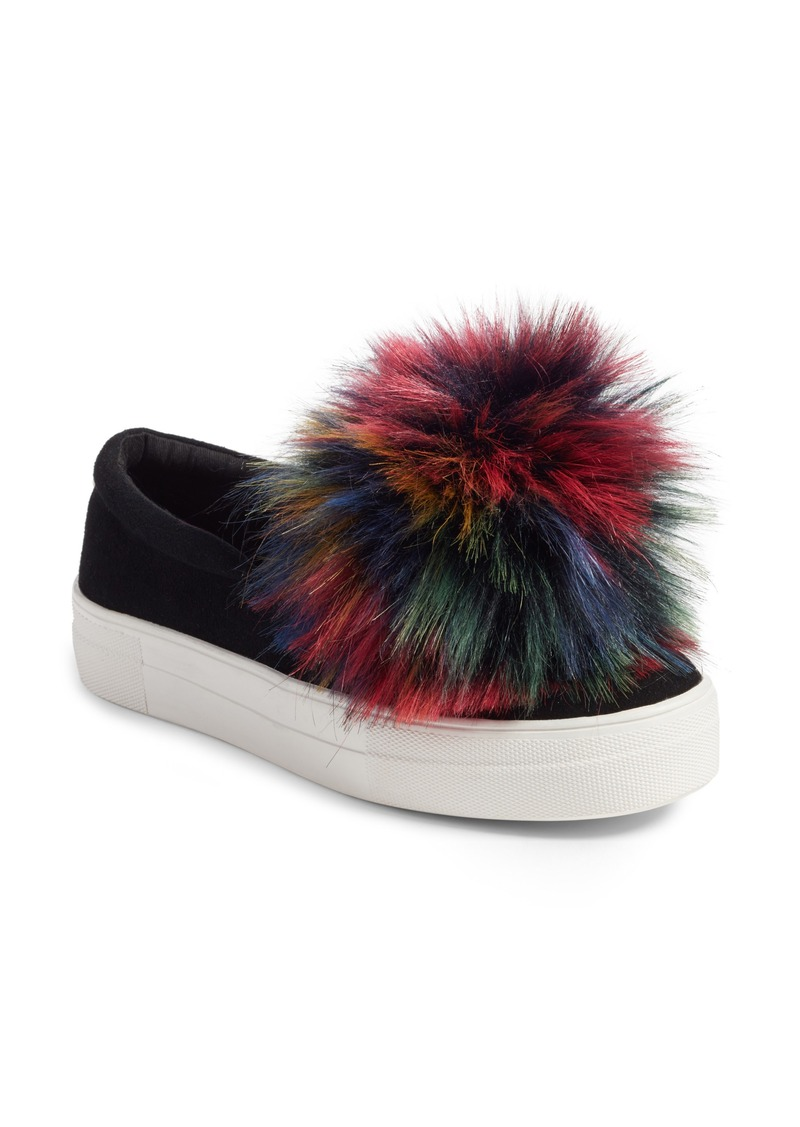 7b659ce1908 Great Faux Fur Pom Platform Sneaker (Women)