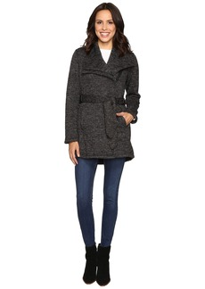 Steve Madden Faux Hooded Down Quilted Puffer with Faux Fur Trim