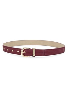 Steve Madden Faux Leather Buckle Belt