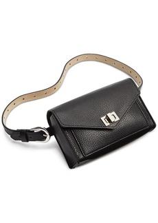 Steve Madden Faux-Leather Turn-Lock Convertible Belt Bag