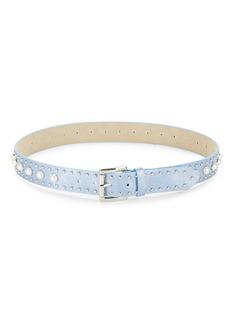 Steve Madden Faux Pearl Studded Belt