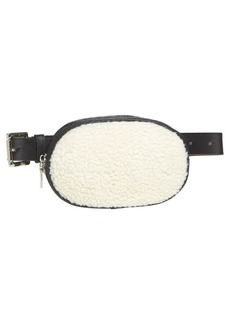 Steve Madden Faux Shearling Belt Bag