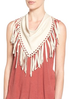 Steve Madden Faux Suede Fringe Triangle Scarf