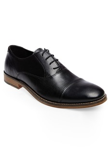 Steve Madden Finnich Textured Cap Toe Oxford (Men)