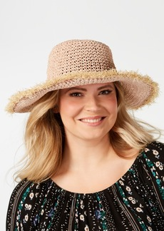 Steve Madden Frayed Crochet Bucket Hat