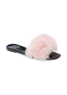 Steve Madden Fritzie Faux Fur Slide Sandal (Women)