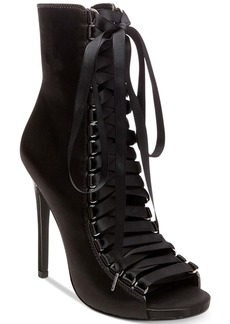 Steve Madden Fuego Lace-Up Peep-Toe Booties
