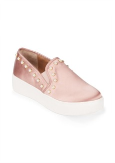 Garcelle Pearlized-Stud Sneakers