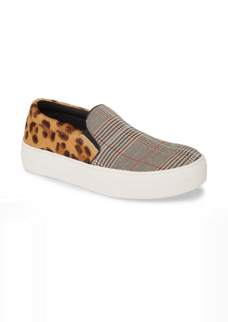 Steve Madden Gills Platform Genuine Calf Hair Slip-On Sneaker (Women)