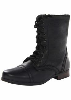 Steve Madden Girls' JTROOPA Combat Boot black 12 M US Little Kid