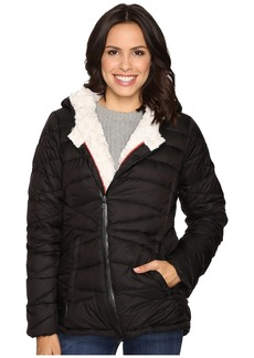 Steve Madden Glacier Shield Hooded Quited Jacket with Faux Fur Lining