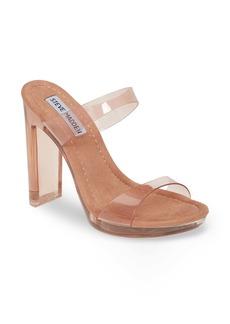 Steve Madden Glassy Clear Platform Sandal (Women)