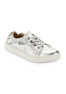 Steve Madden Jane Glittered Lace-Up Sneakers