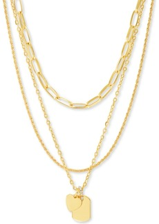 """Steve Madden Gold-Tone Mixed Chain 20"""" Pendant Necklace"""