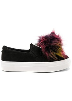 Steve Madden Great Faux Fur Sneaker in Black. - size 10 (also in 6,6.5,7,7.5,8,8.5,9,9.5)