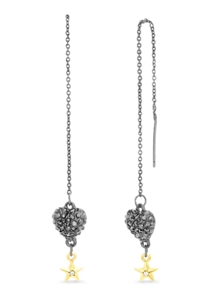 Steve Madden Heart and Star Chain Earring