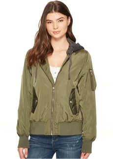 Steve Madden Hooded Bomber Jacket
