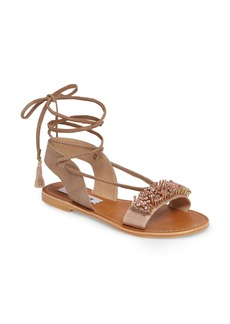 Steve Madden Hope Embellished Wraparound Sandal (Women)