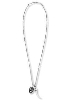 Steve Madden Horn & Armor Pendant Necklace