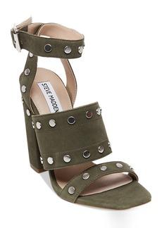 Steve Madden Jansen Studded Block-Heel Sandals