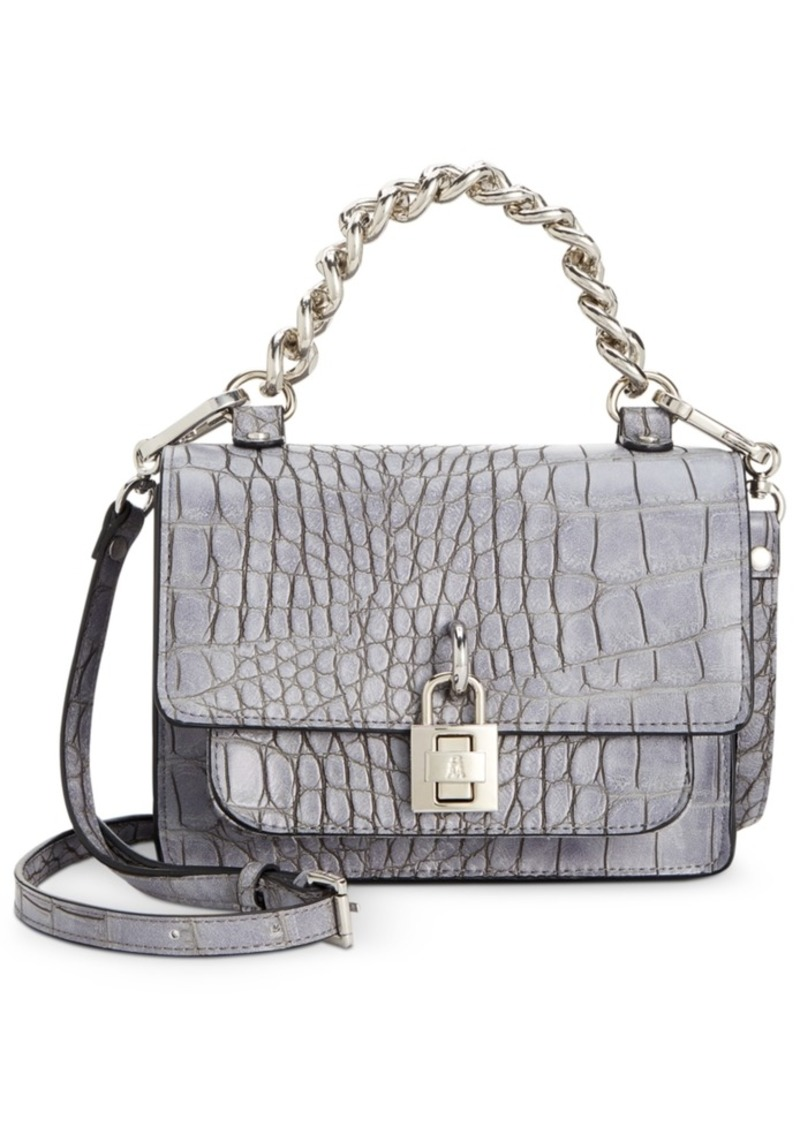 Steve Madden Jaz Matte Croco Chain Handle Satchel
