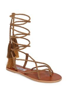 Steve Madden Jazy Tasseled Wraparound Sandal (Women)