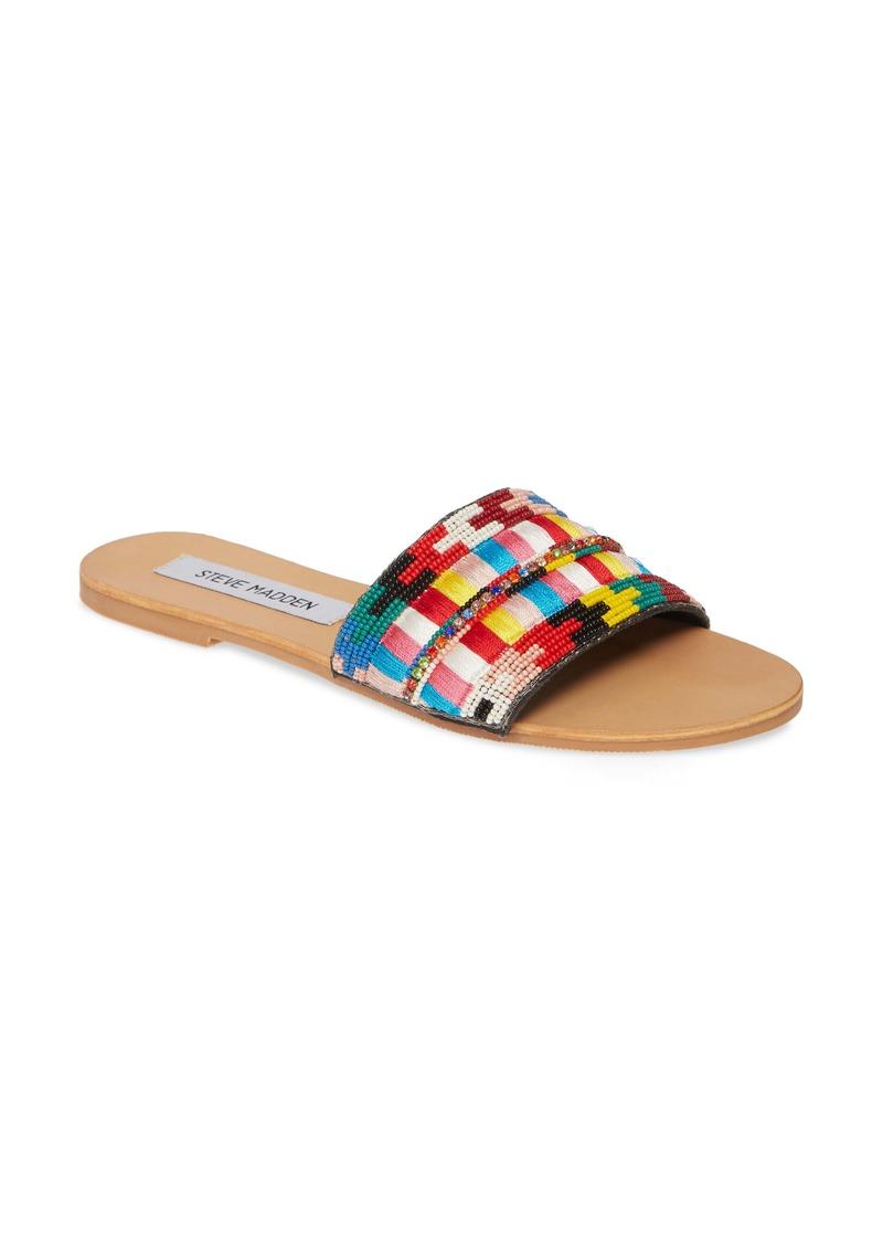 Steve Madden Jealousy Beaded Slide Sandal (Women)