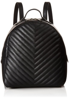 Steve Madden Josie Non Leather Chevron QULIT Medium Backpack black