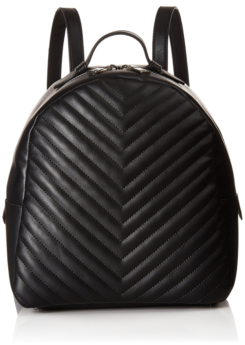 Steve Madden Josie Non Leather Chevron QULIT Medium Backpack black