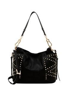 STEVE MADDEN Kyrah Studded Faux Leather Hobo Bag