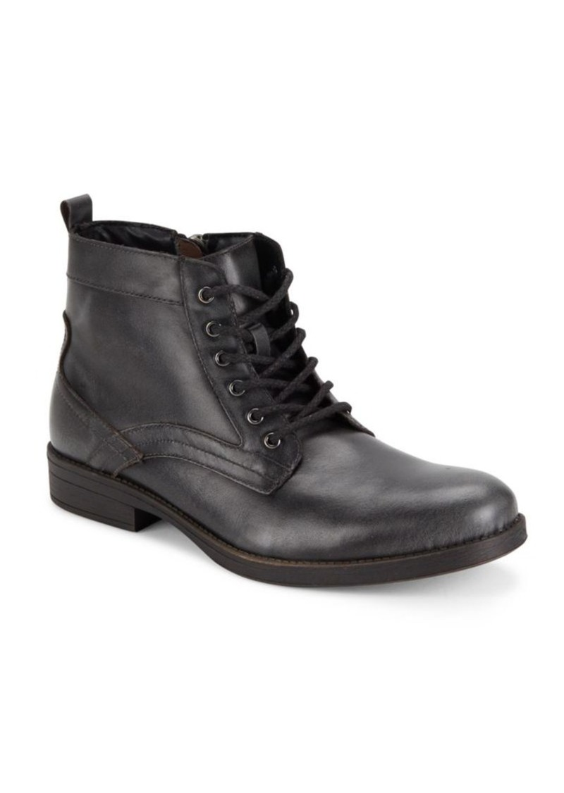 Steve Madden Lace-Up Leather Boots